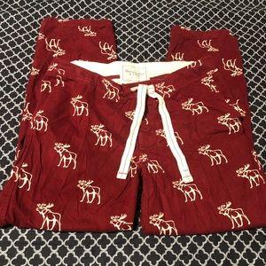 Abercrombie Fitch Pajama Lounge Pants Moose Print